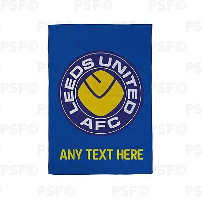 Leeds United FC Official Personalised LUFC Retro Smiley Kitchen Tea Towel LTT014