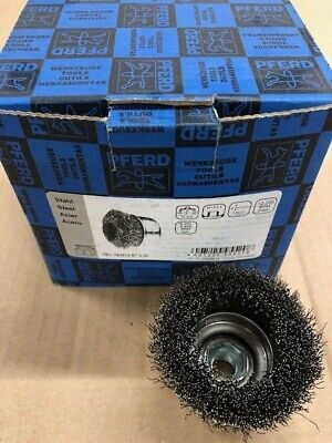 5 x Wire Brush's 75mm M14 Thread 0.30 Steel Wire PFERD