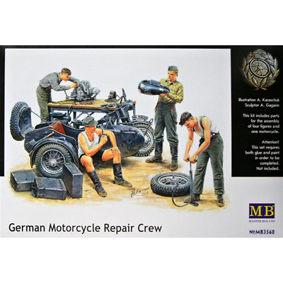 MASTER BOX: 1/35 German Motorcycle Repair Crew