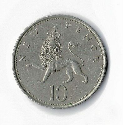 10 Pence Coin UK Large Type Decimal Large 10p Your Choice of Date 1968 to 1981