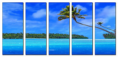 Seascape beach print on canvas, seascape canvas designs 5 panel print wall art