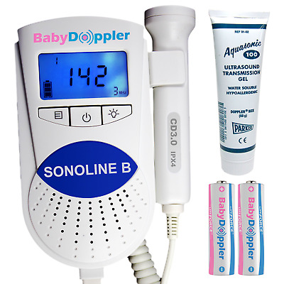 Sonoline B Fetal Doppler 3MHz Probe, Baby Heart Monitor, Backlight LCD, GeL
