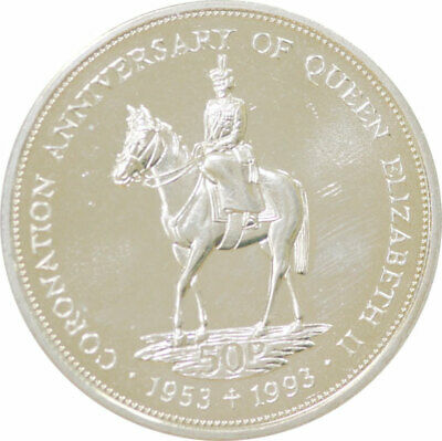 1993 40th Anniversary of the Coronation of the Queen 50p from the Falkland Islan