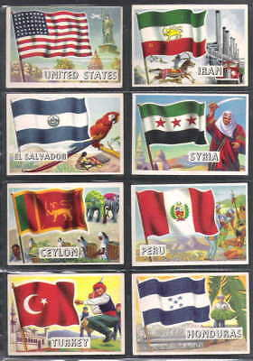 1956 TOPPS Flags of the World Complete Set 80 cards USA Average Nm- Condition