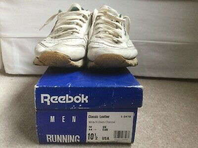 Uk Leather 10 From Vintage Classic 1991 Reebok yvw80ONnm