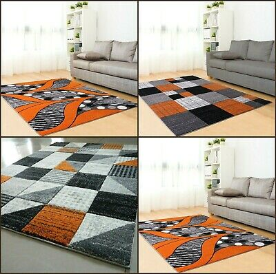 New Orange Luxury Thick Hand Carved Soft Heavy Large Area Floor Rug Runner Mats