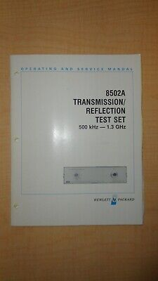 HP 8502A Transmission Reflection Test Set Operation and Service Manual 6F B3