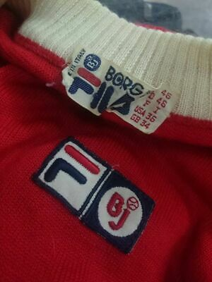 Vintage 1970s FILA Roll Neck Jacket Made in Italy Bjorn Borg BJ