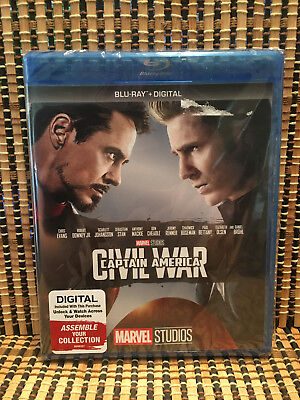Captain America 3: Civil War (Blu-ray, 2017)Marvel Avenger/Iron Man/Spider-Man