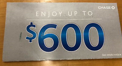 Chase Bank $600 Coupon ($300 for Checking + $200 for Savings + $100) Exp 3/30/19