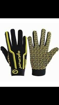 Optimum Velocity Thermal Gloves Yellow/black Sport Extra Grip