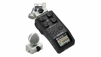 Zoom H6 Handy Recorder w/ XYH-6 and MSH-6 MS Capsules H-6 Digital Handheld