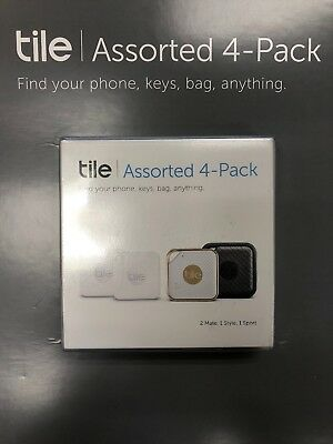 Tile Assorted 4-Pack (2 Mate, 1 Style, 1 Sport) RT-CPMS4-US - Factory Sealed!