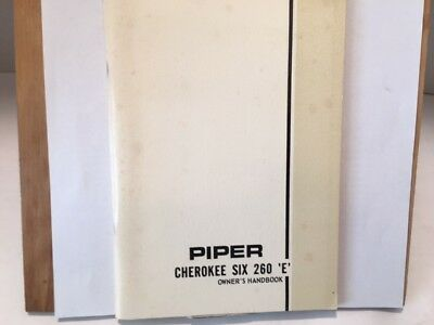 "Piper Cherokee Six ""e""  Owners Manual"