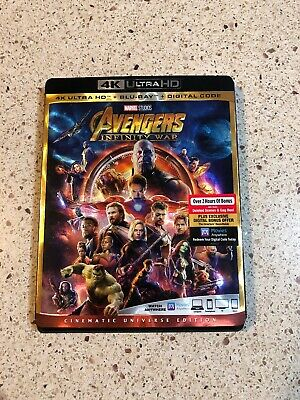 Avengers Infinity War (4k Ultra HD/Blu-ray/Digital HD)