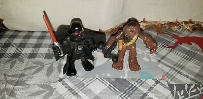 2011 HASBRO STAR WARS GALACTIC HEROES DARTH VADER  and Chewbacca ACTION FIGURES