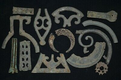 Collection of 14 Ancient Viking Bronze Amulets. Detector Finds, c 950-1000 Ad.