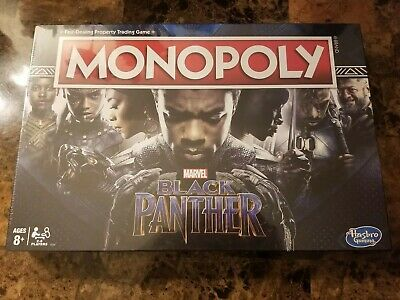 New Hasbro Marvel Black Panther Monopoly Board Game E5797