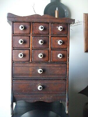 Old/Early Primitive Antique Spice Box/Cabinet