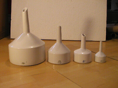 4 Buchner Filter Funnels - New Old Stock