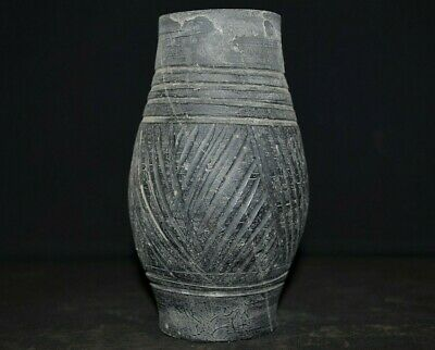 Ancient Viking Ceramic Pot. Richly decorated Norse Jar Container, c 950-1000 Ad.