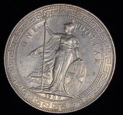 1900 British Trade Dollar Silver Coin