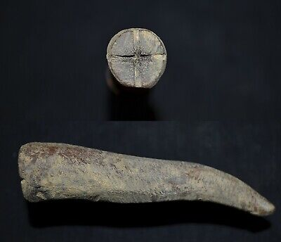 Ancient Viking Hand-Carved HÖRN Amulet depicting Norse CROSS, c 950-1000 Ad.