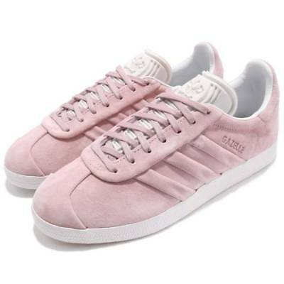 New Adidas Women s Gazelle Stitch and Turn 9 Wonder Pink Suede Shoes 96b3f0ed1