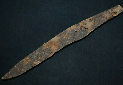Ancient Viking Large Iron KNlFE. Big & Rare Norse BIade, c 950-1000 Ad. Cleaned