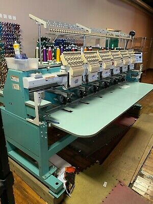 Used Embroidery Machines >> Tajima Commercial 6 Head Embroidery Machine Tmfxii C1206 S Used