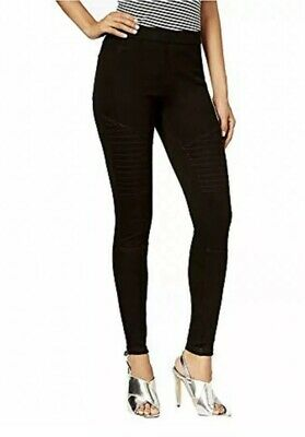95ea7103bc3ecc HUE Womens Moto Denim Leggings Black Size XS $44 - NWT Cute Sexy Comfy Sz 0