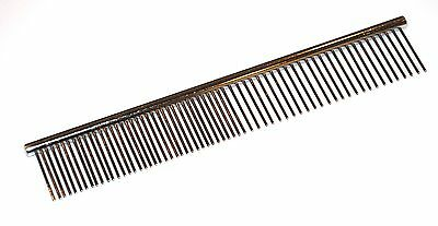 "Large Pet Comb 7.5"" Stainless Steel Ideal for Cats Dogs Grooming Pet Brush Fine"