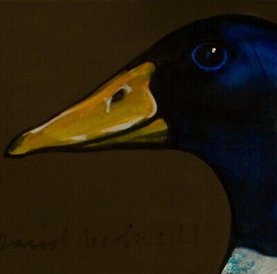 RING NECK DUCK : ORIGINAL OIL PAINTING : Poultry Geese Bird Art by David Andrews