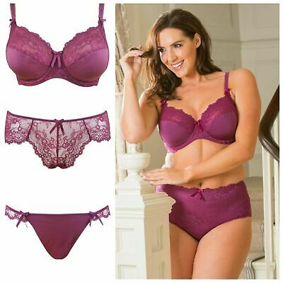 Clearance.....Pour Moi Cherish Purple Side Support Bra or Short or Tanga Brief