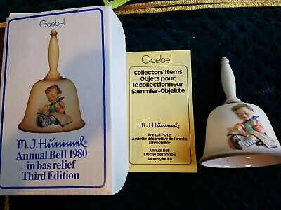"MJ Hummel 1980 GOEBEL Annual Bell 6""h 3rd Edition HUM 702 THOUGHTFUL 50502"