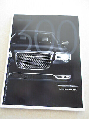 2015 Chrysler 300 automobile advertising booklet