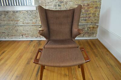 Hans Wegner for A.P. Stolen Original 1964 Danish Papa Bear Chair & Ottoman