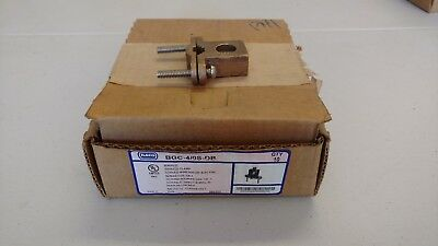 """Ilsco BGC-4/0P-DB 8 to 4/0 AWG 1/2 - 1"""" Pipe Bronze Alloy Ground Clamp Connector"""