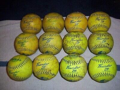 Dudley USSSA Thunder ZN Classic M Stamp Slow Pitch Softball One Dozen 12 Inch