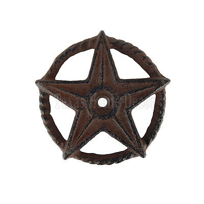 Small Cast Iron Rustic Texas Star Rope Ring Western Arts Crafts 3 in G024