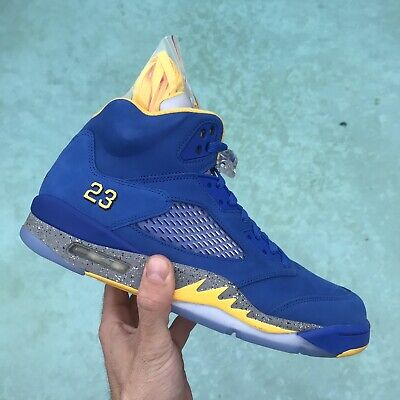 8880d40cfe461f 2019 Air Jordan 5 Retro Jsp Laney Varsity Royal light Charcoal-Maize Cd2720-