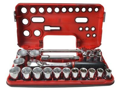 "FACOM SL.DBOX1 - 1/2"" Drive COMPACT METRIC SOCKET SET 8 - 32mm in Detection Box"