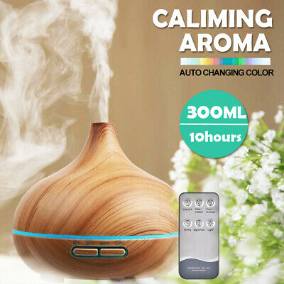 300ml Essential LED Oil Aroma Diffuser Aromatherapy Air Humidifier Mist Purifier