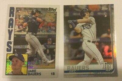 2019 Topps Series 1 JAKE BAUERS Silver Pack 1984 Chrome #T84-25 - Rays ROOKIE
