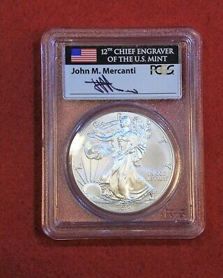 2014-(W) $1 Silver Eagle MS70 PCGS Struck at West Point First Strike Mercanti