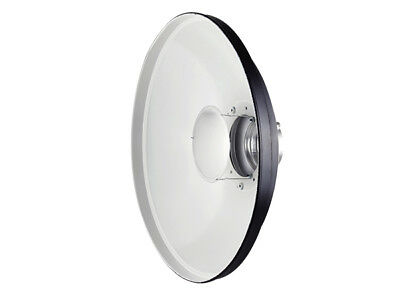 """White Beauty Dish 20"""" With Diffuser For Profoto"""