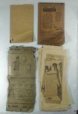 2 Vintage Sewing Patterns Child's Dress Simplicity & Pictorial Review.