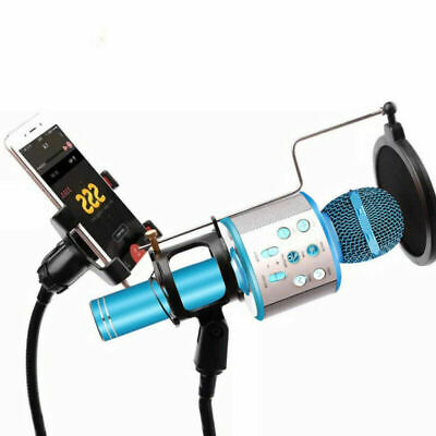 WS858 Wireless Bluetooth Karaoke Microphone Stereo Mic KTV USB Speaker Player