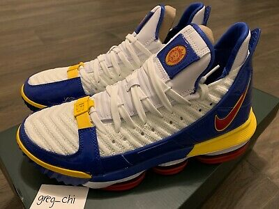 best website bd08d 4600d NIKE LEBRON XVI SB 16 Superbron Superman White Red Shoes 8.5 CD2451 100  Lakers
