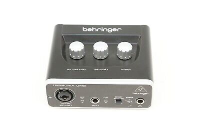 Behringer UM2 U-Phoria 2x2 USB Audio Interface w/ XENYX Mic Preamplifier